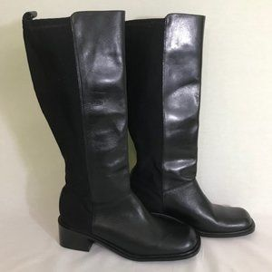 Pazzo Amy womens black kleather riding boots